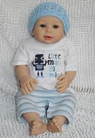 "22"" Lifelike soft silicone vinyl newborn baby dolls Sport Boy Handmade Reborn baby doll for sale"