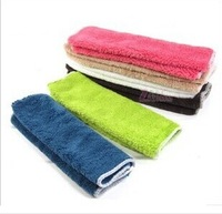 200pcs/lot Microfiber Cleaning Magic Towel Non Oil Dish cloth rags Bamboo Fiber Dish Towel scouring pad Kitchen towel supplies