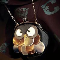 New 2014 Trendy Unique Owl Cartoon Cute Cross body Bag Women Messenger Bag Leather Handbag Wallet Coin purse Free shipping