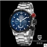 Men steel quartz watch fashion personality multifunctional diving sports brand men's watches