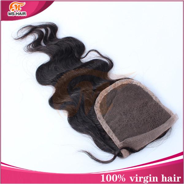 venda quente! corpo onda laço fechamento superior brasileiro virgem cabelo