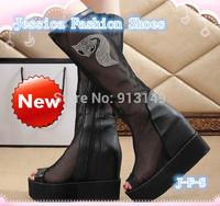 Peep toe grenadline new summer fashion  casual rhinestone women wedge  shoes cover heel boots plug size 39 free shipping