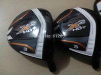 2014 X2 HOT Golf Fairway Woods #3#5 With Graphite Shafts Regular or Stiff Flex Golf Wood Clubs 2PCS NEW