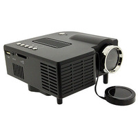 Black UC28 Mini Pico Portable Home Theater Cinema Proyector Projector Projetor beamer wWth VGA USB SD AV HDMI
