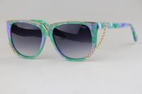 Ms. sunglasses 5312  Removable LOGO Fashion wild Queen Fan Small fresh style Elegant Cute Anti-UV