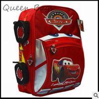 Hot 2014 High quality Boy children Popular cartoon car backpack Kids  school bag children Travel bag S2934