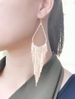 2014 New Fashion Tassel Drop Earrings Big Long Earrings Women Silver Gold Earrings Punk Retro Vintage E280