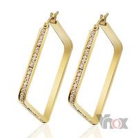 Fashion women big gold hoop earrings  jewelry with nice crystal