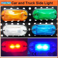 Wholsesale 12ps/lot 12V Car Side Marker Light LED Smoked Side Turn Signals Lights For Car/Truck VW JETTA BORA MK4 PASSAT B5
