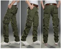 2014 multi-pocket outdoors men straight casual pants men in camouflage uniforms loose pants men tactical pants