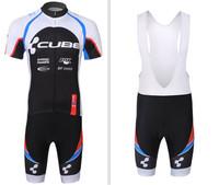 Hot Sale! 2014 New Men CUBE Cycling Bike Summer Short Sleeve cycling Jersey&cycling bib short set SIZE:XS-4XL