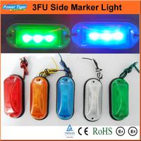 (LA-569) 6ps/lot Waterproof Car Light 12V Led Side Marker Light For Car Truck/trailer DOT Emark SAE Led Clearance Llight