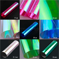 """12"""" Shiny Chameleon Auto Car Styling headlights Taillights Translucent film lights Turned Change Color Car film Sticks Stickers"""