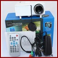 "Multimedia LCD Image System Home LED Digital Projector 60"" Cinema Theater, PC Laptop VGA Input UC28+(SD / USB / AV / VGA /HDMI)"