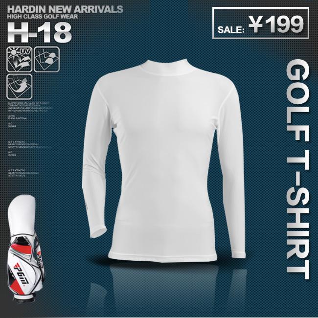 Pgm roupas masculinas de manga comprida T-shirt camisa básica protetor solar elástico(China (Mainland))