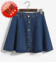Embroidery Beading Denim Pencil Skirt 2014 High Waisted Jeans Skirt Plus Size XXL American Apparel Summer Mini SkirtsFemale