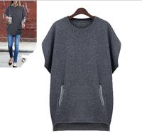 Free Shipping2014 fall fashion for women oversized Wool Sweater, Sleeveless knitted sweater womens L XL 2XL 3XL 4XL 5XL