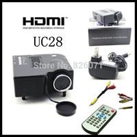 "King home projector UC28 PRO HDMI Mini HD Home LED Projector 60"" Cinema Theater, PC Laptop VGA Input USB"