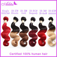 5 ombre # two tone red human hair
