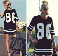 Plus Size  New 2014 Korean high street  design harajuku hip hop women cotton Print Long  a T shirt   tops for women camisetas