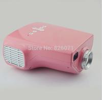 """2pcs Mini LED Video Projector """"jx-03 Hdmi projectors"""" - 320x240, 200:1, VGA and Hdmi Port -PINK"""