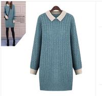 Free Shipping! 2014 Fall Winter New Women plus size sweater dresses, Brand Female Wool winter sweater L XL 2XL 3XL 4XL 5XL