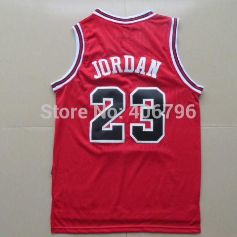 #23 Michael Jordan Classical Red Basketball Jersey(China (Mainland))