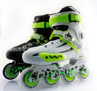 Hot Sale ! Adult Skate shoes Children Skates Adjustable  Rollerblading Roller Skates 6 Flanchard Free Shipping With EMS