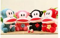 2014 17cm  Creative plush toys Plush toys creative 4 color big mouth monkey
