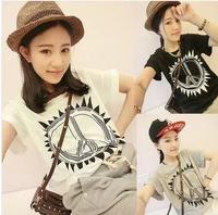 2014 new arrival summer clothes batwing shirt short-sleeve t-shirt female short-sleeve fashion plus size clothing