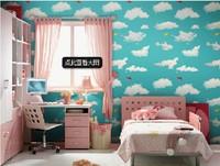 walls wallpaper rolls pvc adhesive bedroom blue sky papel de parede infantil wall paper roll for kid papel de parede mapa mundi