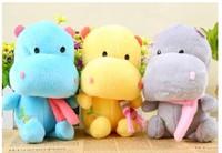 2014 18cm  Creative Mini creative hippo toys ,children lovely gift