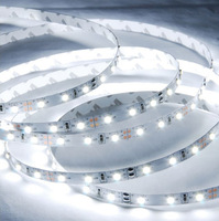 300m/lot High Quality 2835SMD Waterproof LED Flexible strip light 12V DC 60leds/M White/Warm White 5 meters/reel