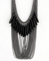 Wholesale Fashion Alloy Long Tassel Chokers Chain Necklace Women Necklaces & Pendants 2014 New Ethnin Jewelry JN_D_0014