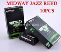 MIDWAY JAZZ Saxophone reed/Jazz sax reed NO 2.5  drop E (or F) trans f0r Alto Saxophone 10pcs/BOX