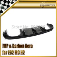 For BMW E92 M3 H2-Style Real Carbon Fiber Rear Bumper Diffuser