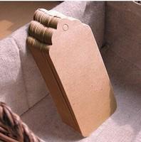 4.5*9.5cm DIY graffiti kraft paper labeling/strip blank labeling/label/hang tags with hemp rope Wholesale