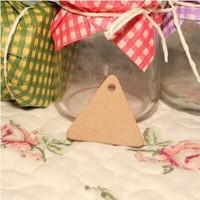 3.5cm DIY graffiti Kraft paper triangle small label/hang tag Blank paper card mood word CARDS handmade soap price card