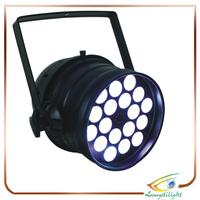 18pcs*9W hot sell cheap price professional ktv disco rgb plastic flat led par light