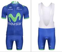 NEW! 2014 Movistar Team Cycling clothing /Cycling wear/ Cycling jersey short sleeve (Bib) Shorts Suite-Movistar-3D Free Shipping