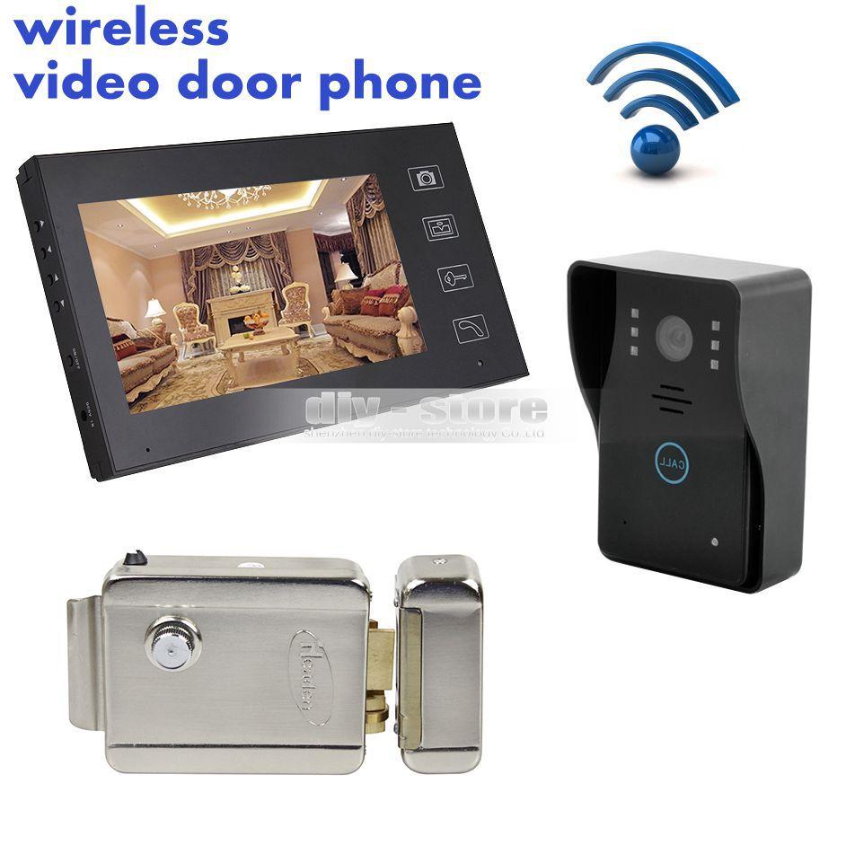 Wholesale touch video door phone intercom doorbell home for Door entry handset