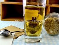 2pcs x 1lot Coffee/tea strainer Leaf Colander Tools stainless steel strainer tea stirrer Herbal Infuser Filter Diffuser