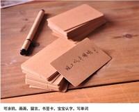 5.4*9cm Retro blank diy graffiti card Kraft paper, thick cardboard corner word CARDS note card