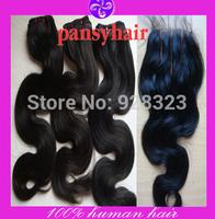 Malaysian virgin hair lace closure with bundles malaysian body wave hair extension 4pcs/lot  3part lace closures