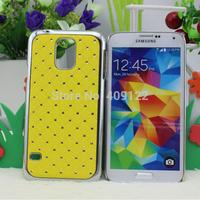 Fedex 100pcs for S5 New shining stars Chrome Rhinestone High quality Skin Hard Cover Case for Samsung S5 I9600 ,pt0404