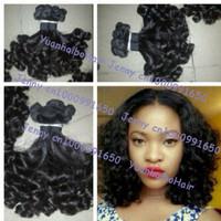 Funmi Hair Grade 6A 3pcs/lot #1b tip bouncy curl virgin peruvian aunty funmi hair weft for women free shipping