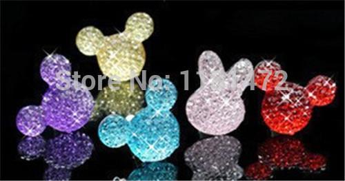 100 pçs/lote atacado cabochões apartamento de volta resina Glitter Minnie Mouse para DIY Hairbows enfeites artesanato fazer Decor(China (Mainland))