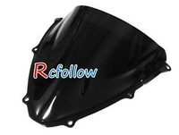 Black Motorcycle Windshield Windscreen Fit For  GSXR 600 750 K6 2006-2007