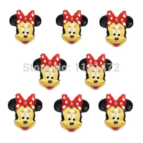 100 pçs/lote atacado Minnie Mouse resina Flatbacks Scrapbooking arco de cabelo centro de artesanato fazer enfeites Decor(China (Mainland))