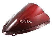 New Motorcycle Red Windshield Windscreen Fit For  GSXR600\750 K8 2008-2009